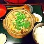 那須家 宗庵 - 牡蠣の鍋焼きうどん