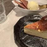おやさいバル TIERRA - バスクチーズケーキ。チーズチーズしてないチーズケーキ。あっさり♪