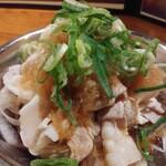 麺匠 えい蔵 - 本日のおすすめから豚しゃぶおろぽん480円
