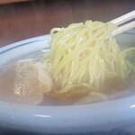 味菜 - 麺は湯気で曇ってるし!