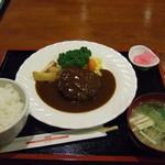 洋食のみかさ - ハンバーグ定食(ランチ)