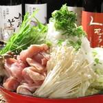 炭焼屋 #彩食兼火 - 大根おろしたっぷり大豪雪地鶏なべ