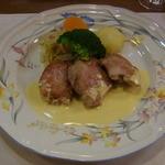 12724957 - 安曇野酵母豚ヒレ肉マスタードソース