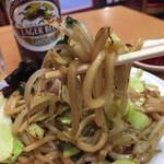 中華珍満 - 太くてぷつぷつと短く、柔らかい麺です