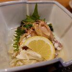 酒囲屋本店 - シャコと渡り蟹の酢の物