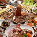 韓国館 - バラエティー豊富な韓国料理