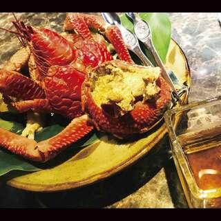地元の新鮮魚介と宮古島の美味いもの三昧!ヤシガニ、ガザミ料理
