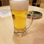 回転寿司一心 - ドリンク写真:ビール 480円