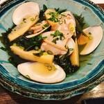 郷酒 - 蛤と新若布筍煮