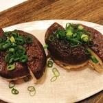 郷酒 - 原木椎茸の肉詰め