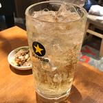 牛タンいろ葉 - *スタンダードハイボール(¥390) +大ジョッキ(¥200)