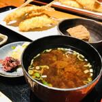 127289750 - 京ばし松輪のアジフライ定食/ライス/お味噌汁/大根おろし/小鉢/お漬物付き