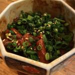 ネギッチン negi negi - どて煮(お通し)
