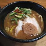 つけ麺本丸 - 濃厚魚介つけ麺 スープ