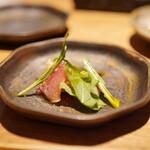 焼鳥 市松 - 比内地鶏の生ハム