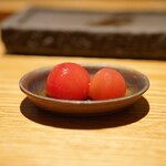 焼鳥 市松 - ミニトマトのお浸し