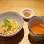 焼鳥 市松 - 鶏めしと比内地鶏のスープ