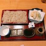 127306213 - 季節限定蕎麦『たけのこと春野菜の天ぷら せいろ』