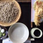 竹やぶ - 「天ぷら付き特上そば」@1840+「大盛り」@160(税込)