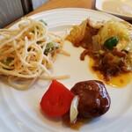 SUPREME - タラコパスタはパサパサ❗回鍋肉は美味しかった。