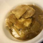 かれーうどん わびすけ - カレー出汁スープぶっかけご飯