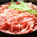 國吉食堂 - しゃぶしゃぶ用のあぐー肉です。美味しそうでしょう♪