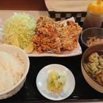 くいものや 鉄ん家 - 唐揚げ定食