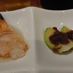 三木半 - 蟹爪酢、芽キャベツとアンチョビソース