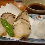 三木半 - 椎茸のエビすり身詰め天ぷら 450円