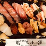 光海 - 料理写真:特上 握り寿司 2,200円+tax (テイクアウト利用 顆粒味噌汁付き)