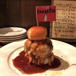 ワイン食堂 イタダキヤ - 手作りチーズハンバーグ