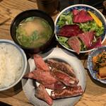 四五六 其の弐 - 焼肉 カルビハラミ定食 1,480円。