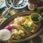 太刀魚のフリット ケッパーバターのソース