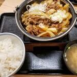 吉野家 - 料理写真:牛の鍋焼き定食 598円