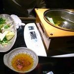 12737940 - 京野菜の水炊き