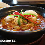 Saihinrou - 魚介とナスの四川風辛味煮込み