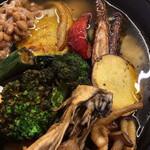 ノットカレー - 野菜たっぷりスープカレーのアップ