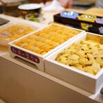 Sushiamami - 雲丹の食べ比べ