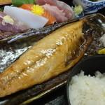 まるみや - 焼き魚は「鯖塩」でした