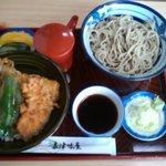 嘉津味屋 - いか天丼と冷たい蕎麦のセット