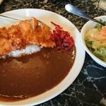 ケーツーカレーハウス - チキンカツカレー サラダセット 650円