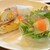 ブックス&カフェ そごう千葉店 - 料理写真:ハム&チーズエッグのホットサンド(サラダ付)