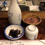 ふくべ - 菊正宗+お通し+いか塩辛