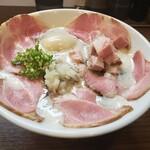 麺~leads~なかの - 特製TORI白湯らーめん 大盛り チャーシュー