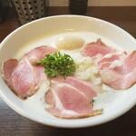 麺~leads~なかの - 特製TORI白湯らーめん 塩 大盛り