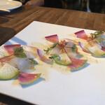 127405206 - 昆布〆した真鯛のカルパッチョ