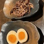 EIKOKU SHORYU - 木耳と煮卵をトッピング