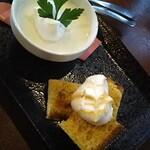 チャイ カフェ  2019 - ランチデザート(+200円) パンナコッタとシフォンケーキ