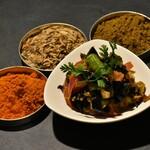 スパイスバル317 - ・揚げナスのテルダーラ  500円  スパイス、ビネガー、ココナッツを使ったスリランカ風のピリ辛炒め煮を冷菜で♪
