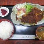 おうぎ亭 - 料理写真:豚ロース味噌カツ定食 850円(税込)。     2020.03.12